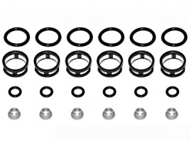Nissan Side Feed Injector Rebuild Kit Skyline GTST RB25DET 300ZX VG30DETT 6 Cylinder Complete Seals Filters Pintles