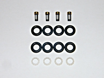 NISSAN INJECTOR REBUILD KIT SEALS FILTERS PINTLES 4 CYL BOSCH 0280155 0280156 EV